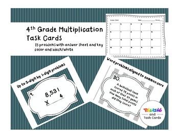 Multiplication task cards freebie