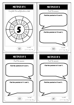 Multiplication task cards mobile phone themed 5