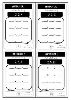 Multiplication task cards phone theme FREE