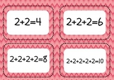 Multiplication through Repeated Addition, Arrays and Playing Cards 2x 5x 10x