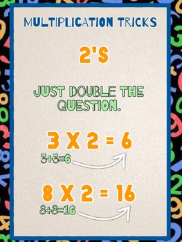 Multiplication / times tables tricks