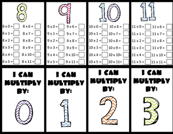 Multiplication up to 11 x 11