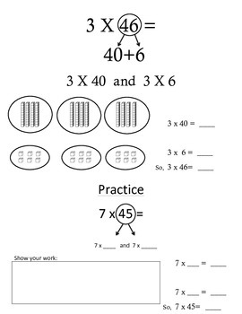 Multiplication using Partial Product (2-digit X 1-digit)