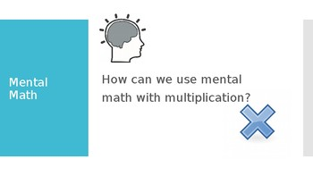 Multiplication using distributive property mini lesson