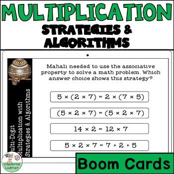 Multiplication using strategies and Algorithms Digital Boom Cards
