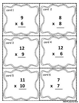 Multiplication w/ and w/out regrouping TASK CARDS