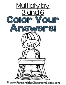 Color By Numbers Multiplication with 3 and 6 Color By Code