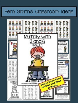 Multiplication with 3 and 6 Task Cards Center Games and Color By Numbers  Bundle