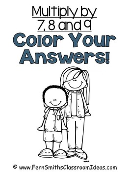 Color By Numbers Multiplication of 7 8 and 9 Color By Code