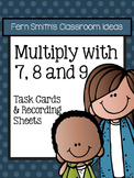 3rd Grade Go Math Chapter Four Multiply with 7 8 and 9 Task Cards and Printables