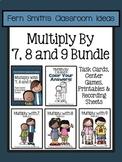 3rd Grade Go Math Multiply 7 8 9 Task Cards Center Games Color By Number Bundle