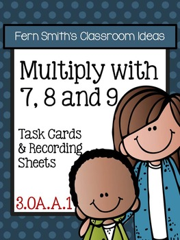 Multiplication with 7 8 and 9 Task Cards and Printables