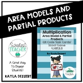 Multiplication with Area Models and Partial Products QR Code Task Cards