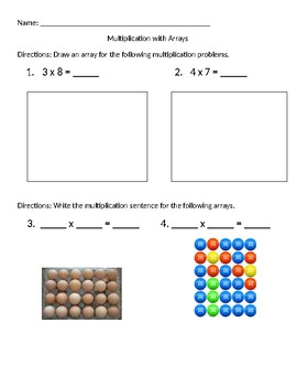 Multiplication with Arrays