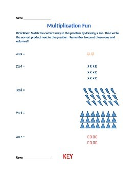 Multiplication with Arrays (Common Core)