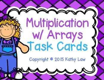 Multiplication with Arrays Task Cards