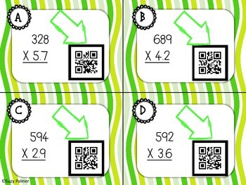 Multiplication with Decimals (1 Place)