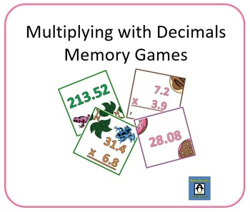 Multiplication with Decimals Memory Games - Only $1