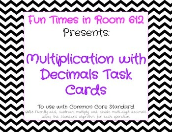 Multiplication with Decimals Task Cards