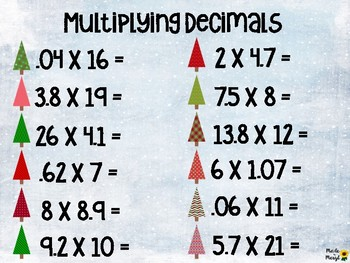 Multiplication with Decimals and Whole Numbers