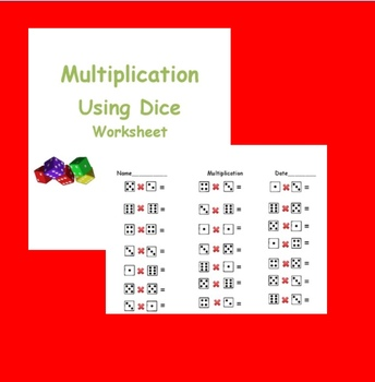 Multiplication with Dice worksheet