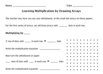 Multiplication with Dot Arrays
