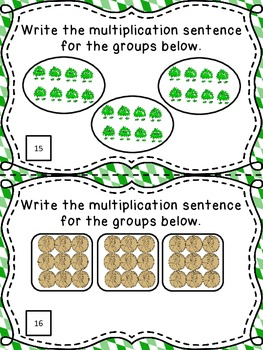 Multiplication with Equal Groups - 22 Task Cards