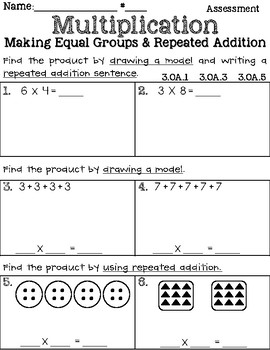 Multiplication with Equal Groups & Repeated Addition