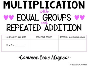 Multiplication with Equal Groups and Repeated Addition