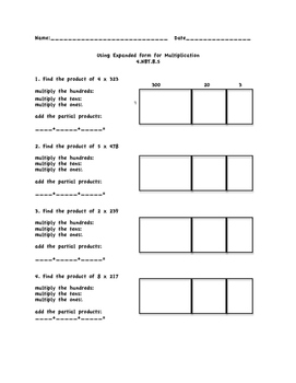 Multiplication with Expanded Form