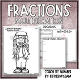 Multiplication with Fractions Color By Number 5.NF.4