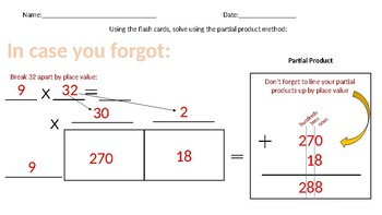 Multiplication with Larger Numbers using Area Model (box method)