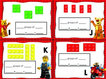 Multiplication with Building Blocks Scoot Cards