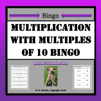 Multiplication with Multiples of 10 Bingo (30 pre-made cards!)