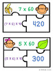 3rd Grade Multiplication Game Puzzles for Multiplying by Multiples of 10 3.NBT.3