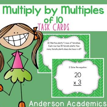 Multiplication with Multiples of 10 Task Cards {3.NBT.3}