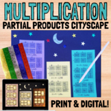 Multiplication with Partial Products Cityscape Craft