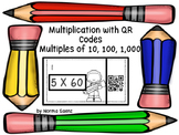 Multiplication with QR Codes , Multiples of 10, 100, 1,000