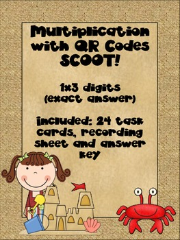Multiplication with QR Codes SCOOT! - 1x3 digits (exact answer)