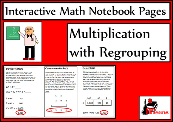 Multiplication with Regrouping Lesson for Interactive Math