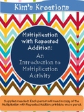 Multiplication with Repeated Addition: An Intro to Multiplication Activity