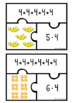 Multiplication with Repeated Addition & Equal groups Puzzles - Bundle 2,3,4 & 5