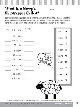 Multiplication with Whole Numbers