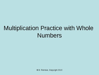 Multiplication with Whole Numbers TurningPoint Clicker Presentation