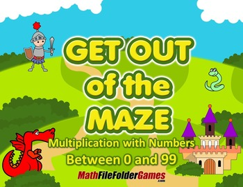 Multiplication with numbers between 0 and 99 (Fun Workshee