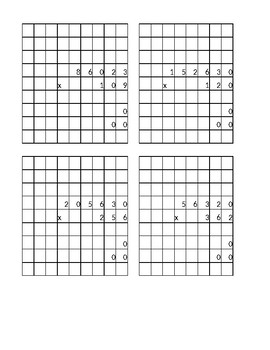 Multiplication with regrouping