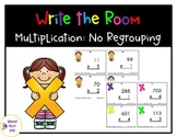 Multiplication without Regrouping- Write the Room