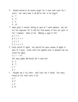 Multiplication word problem Assessment/Practice