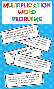 #AUSBTS18 Multiplication word problem cards {32 different problem cards}
