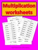 Multiplication work sheets